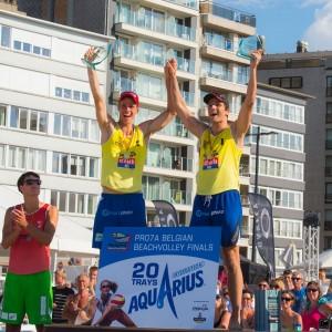 Ward Coucke et Tom Van Walle remportent pour la 3ème fois d'affilées le Belgian Beach Volley Tour.