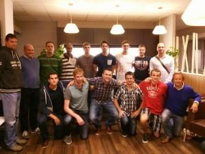 Première photo d'équipe pour la Ligue A du VBC Axis Shanks Guibertin
