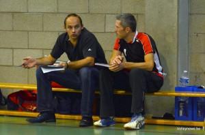 Petr Klar (ici en discussion avec Fred Masson à Orp) sera le nouvel entraîneur de Waremme