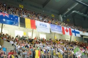 Le public est venu en masse au Country Hall de Liège pour soutenir les Red Dragons. Les 4000 places de la salles étaient occupées et l'ambiance extraordinaire !