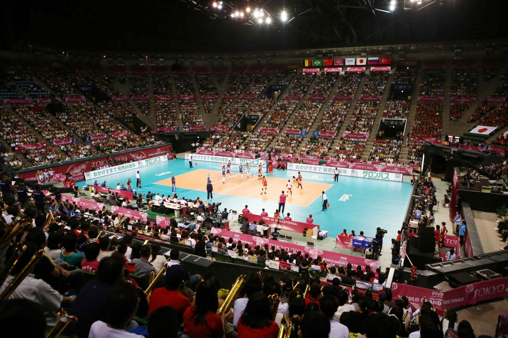 L'Ariake coliseum de Tokyo était presque complet pour la rencontre opposant le Japon à la Russie