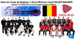 L'Envol Mortroux (N1) reçoit Noliko Maaseik (Ligue A)