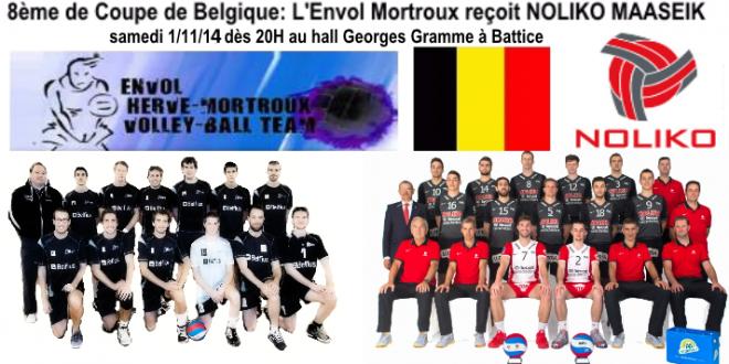 [Coupe de Belgique] L'Envol Mortroux (N1) reçoit Noliko Maaseik (Ligue A)