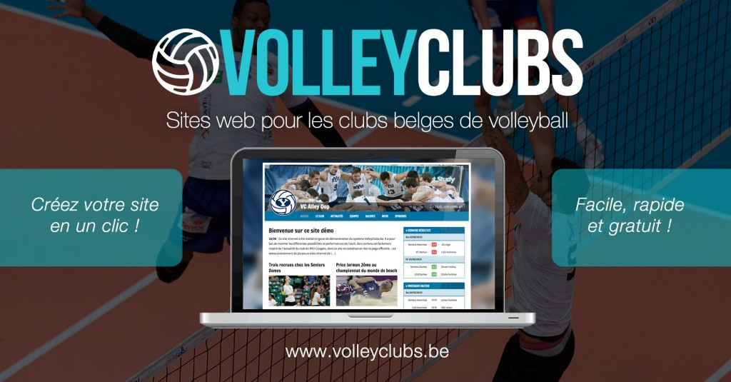 Volleyclubs.be met gratuitement à disposition un site internet pour votre club !