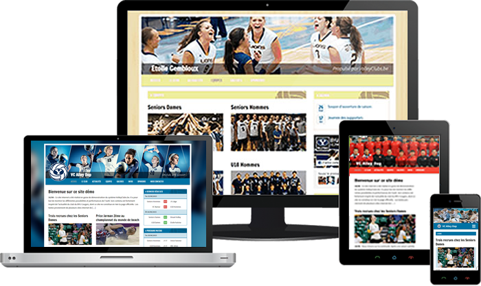 Volleyclub responsive website