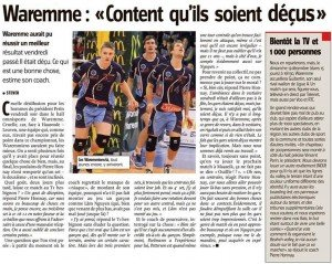 Article sur le VBC Waremme