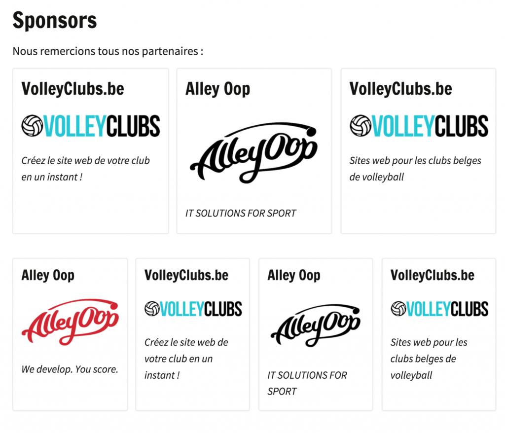 Réservez un espace pour vos sponsors