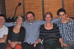 La famille Rousseau au complet : (De gauche à droite) Hélène et Emile Rousseaux, Karin Wallyn, Tomas et Gilles Rousseaux
