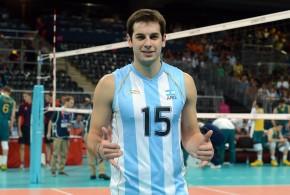 Luciano De Cecco avec l'équipe d'Argentine