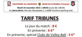Le 19 novembre, dans le cadre de la Challenge Cup, les Dauphines de Charleroi accueilleront le Besiktas Istanbul