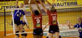 Lise De Valkeneer à l'attaque face à Kelly Oublié et Hanne de Haes