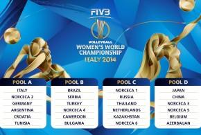 Poules des Championnats du Monde 2014 en Italie