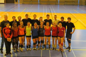 Photo souvenir : Saint Louis Waremme (P1D) et VBC Waremme (Ligue A)