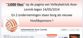 Asse Lennik devra atteindre 15 000 like sur sa page Facebook pour attirer 2 nouveaux head sponsors
