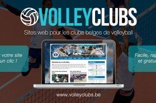 Volleyclubs.be met gratuitement à disposition un site internet pour votre club !